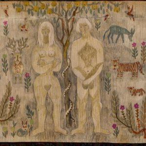 Elgi Reemetsa kavand vaibale - Aadam ja Eeva