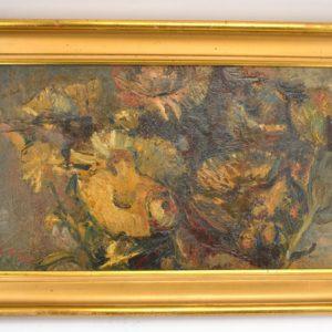 """Eric Adamson (1902-1968) õlimaal Lilled"""" MÜÜDUD"""""""