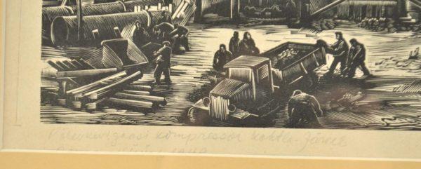 """Esko Lepp (1906-1977) Põlevkivi gaasi kompressor Kohtla-Järvel"""" 1949a"""""""