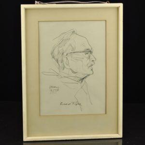 """Evald Okas Friedeberg Tuglase portree"""" 1971a MÜÜDUD"""""""
