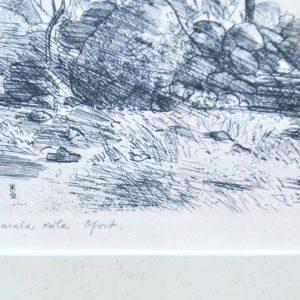 Evald Okas Karala village , etching 1958y.