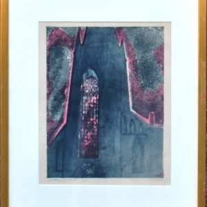 Evi Tihemets Gothic aquatint 1964 y