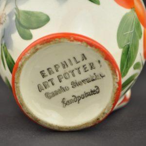 Fajanss kookekann, käsimaal - Erphila Art Potter