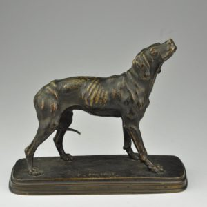 Ferdinand Pautrot 1865 - bronze figure , hunting dog