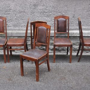 Funk-style dining table chairs 6 pcs SOLD