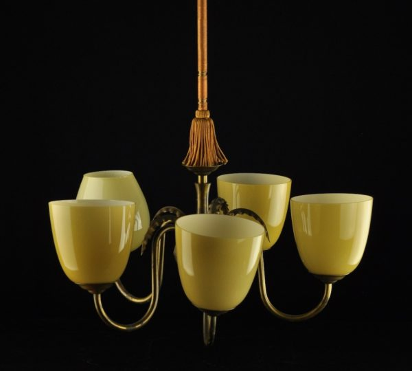 Funkstiilis laelamp, 5 klaaskupliga