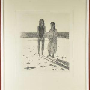 """Graafika """"Elena ja kukka"""" 1983a 15114 Len:15207"""