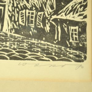 Graphics St. Olaf 1970a. linocut, author Ilmar Tower (1921-1999)