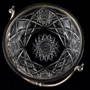 Hõbeäärega kristallkauss