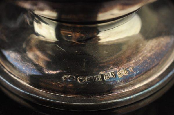 Hõbe serviis-kohvikann, koorekann, suhkrutoos ja kandik 1969a Soome 830,