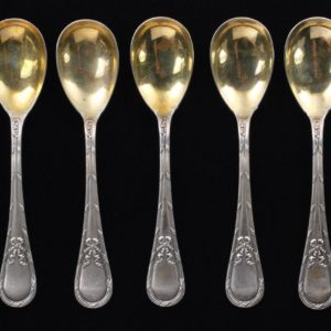 Silver spoons 6pieces.