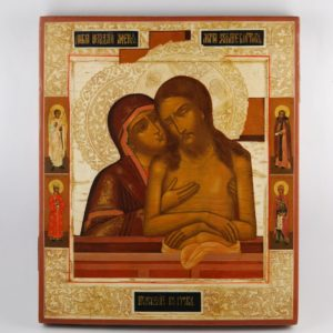 Icon, Mother of God and Jesus Christ - 19th century. end
