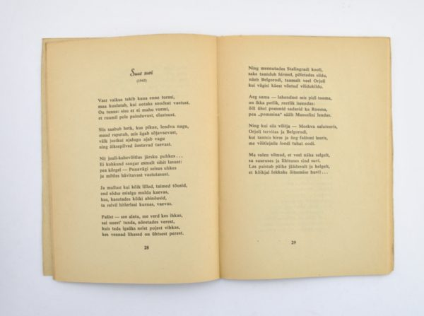 "Johannes Barbarus Rindeteedel 1942-1944"""""