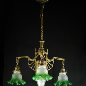 Art Nouveau pendant - green domes
