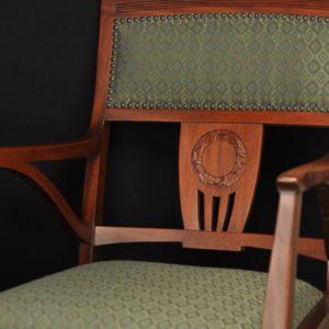 Juugendstiilis kirjutuslaua tool, mahagon MÜÜDUD