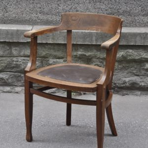 Art Nouveau chair leather