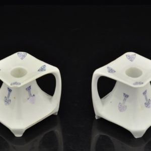 Art Nouveau porcelain candlesticks two pieces, Bavaria SOLD