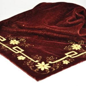Art Nouveau velvet as a tablecloth