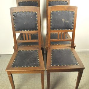 Art Nouveau chairs 4 pieces