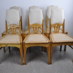 Art Nouveau chairs 6 pieces
