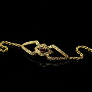 Bracelet - 750 gold, ruby, diamonds 1,12ct
