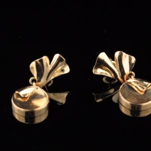 Earrings 585 gold, T.Aru