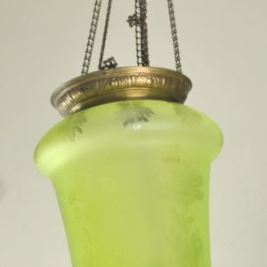 pendant lamp, the green shade