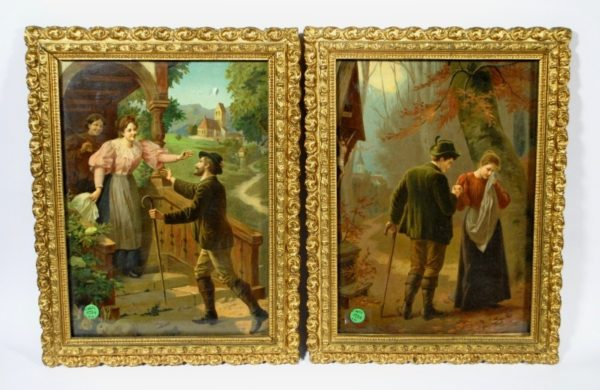 Two picture frames from 19th century