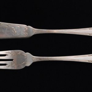 Silver fish fork and -knife