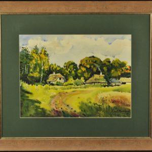 "Karl Burman junior Kallaste talu""1978a. akvarell"""