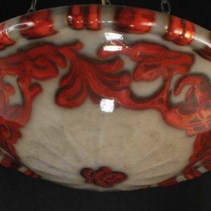 Art deco laelamp,keraamiline kuppel