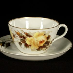 Porcelain cup with a saucer