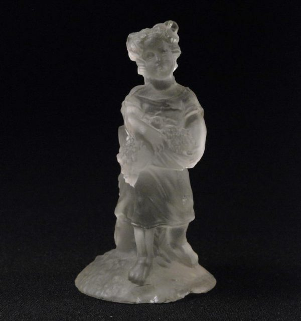Glass figure-candle holder