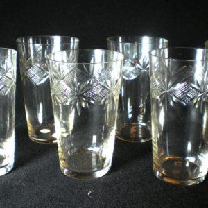 Six glasses