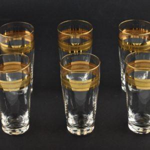 Klaasid kuldse randiga, 6 tk