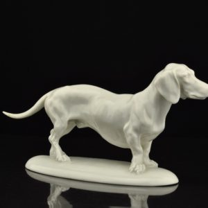 Koera figuur - Herend, signeeritud