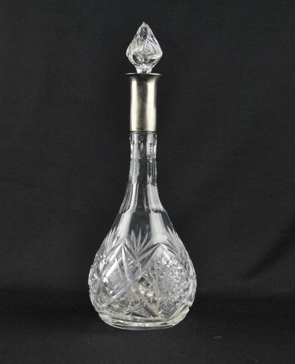 6f754ec9f6e Kristall karahvin, äär 875 hõbe MÜÜDUD - Idla Antiik