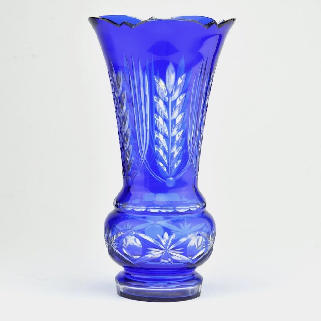 c0d28c3476a Kristall sinine vaas Venemaa - Idla Antiik