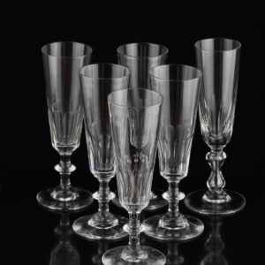 Crystal 6 champagne glasses