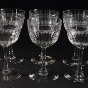 Crystal goblets 5 pieces