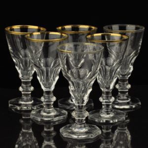 Crystal glasses 6 pieces