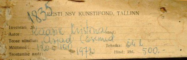 """Kristiina Kaasik """"Asjad """"1"""