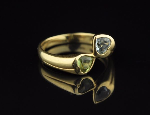 Kuldsõrmus 585, krüsoliit
