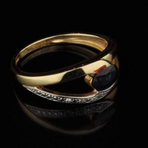 Kuldsõrmus 585 safiir