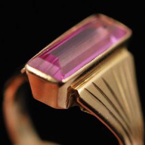 Kullast sõrmus 583 prooviga