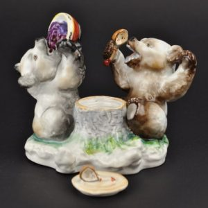 LFZ Lomonosov PORCELAIN inkwell Happy Bears