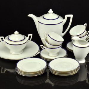 Antique porcelain coffee set for 23pc SOLD