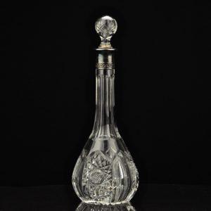 Lorupi kristall karahvin, hõbeäärega