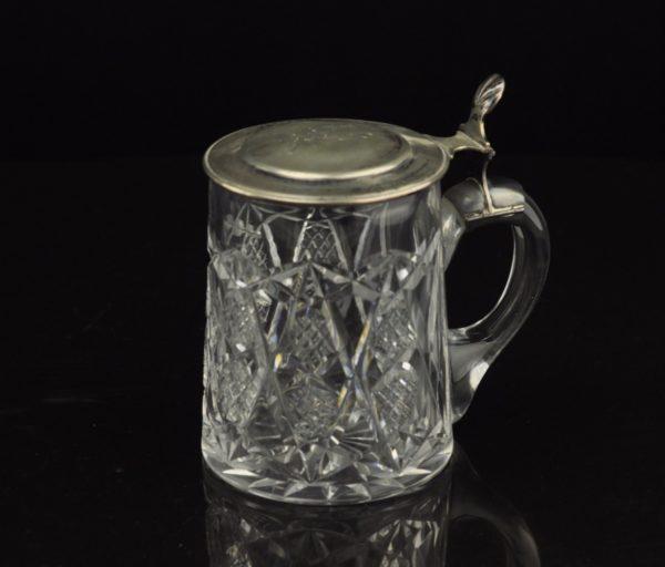 Lorupi kristallist hõbe kaanega õllekapp,875 proov