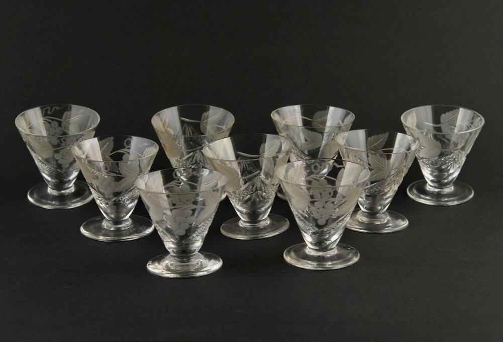 90a8d33a2a5 Lorupi kristallist klaasid - 9tk MÜÜDUD - Idla Antiik